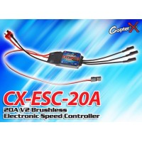 CopterX (CX-ESC-20A) 20A V2 Brushless Electronic Speed Controller