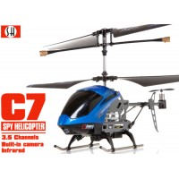 SH (SH-6030-B) C7 3.5CH Helicopter with Gyroscopes System and video Camera (Blue)