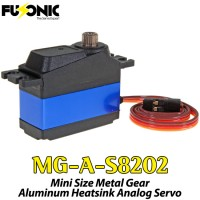 Fusonic (MG-A-S8202) Mini Size Metal Gear Aluminum Heatsink Analog Servo 28G 4KG 0.1sec