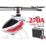 Nine Eagles (NE-R/C-270A-R-CASE) Solo Pro 270 4CH Helicopter with Aluminum Case RTF (Red) - 2.4GHz