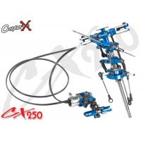 CopterX (CX250-01-30) Metal Main Rotor Head Set & Metal Tail Rotor Set