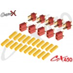 CopterX (CX450-08-13) T Plug High-Discharge Connector with Heat Shrink Tubing 5 pairs
