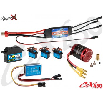 CopterX (CX450EPP-FBL-V2) 450 Flybarless Electronic Parts Package V2CopterX CX 450PRO V4 Parts