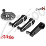 CopterX (CX500-08-03) 25T Aluminum Servo Arm Set (for Futaba, Align, Savox, ACE, Orion)