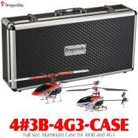 DragonSky (4#3B-4G3-CASE) Full size Aluminum Case for Walkera 4#3B+4G3 V2 Brushless 2.4GHz Metal Upgrade RTF Helicopters with Walkera WK-2801E 2.4GHz Transmitter