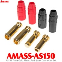 Amass (AMASS-AS150) AS150 7mm Gold Plated Anti Spark Connector Set