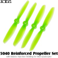ATG (ATG-5040-P-G) 5040 Reinforced Propeller Set with Balance Injection Molding for Mini Quadcopter (2CW+2CCW, Plastic, Green)