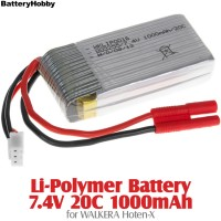 BatteryHobby (BH7.4V20C1000) Li-Polymer Battery 7.4V 20C 1000mAh for Walkera Hoten-X