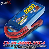 CopterX (CX-3S-2200-35C-1) 11.1V 35C 2200mAh Li-Polymer Battery for ALIGN T-REX 450