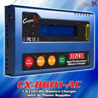 CopterX (CX-B601-AC) B601 1-6 Cell LiPo Balance Charger with AC Power Supplier