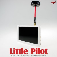 HAWK-EYE Aerial Video Technology Little Pilot 5 Inches All-in-one 5.8G FPV Monitor