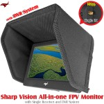 HAWK-EYE Aerial Video Technology (HEAVT-SV-5.8G-02) Sharp Vision All-in-one FPV Monitor with Single Receiver and DVR System