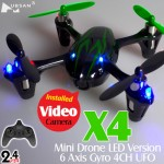 Hubsan (HS-H107C-BG-M1) X4 LED 4CH Video Mini Quadcopter RTF