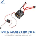 Hobbywing EZRUN MAX8-V3-TRX PLUG 150A Water-proof Brushless ESC with Traxxas Plug for 1/8 Touring Car, Buggy, Truggy and Monster Truck