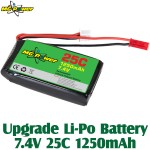 MG Power (7.4V 1250 25C) Upgrade Li-Polymer Battery 7.4V 25C 1250mAh