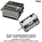 Speed Passion (SP-SP000189) Reventon-R 70A ESC (Silver) with Competition V3.0 5.5R Brushless Motor Combo