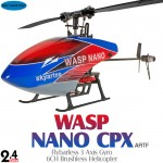 Skyartec (MNH03-2) WASP 100 Brushless NANO CPX Flybarless 3 Axis Gyro 6CH Helicopter without Transmitter ARTF - 2.4GHz