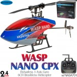 Skyartec (MNH03-1) WASP 100 Brushless NANO CPX Flybarless 3 Axis Gyro 6CH Helicopter RTF (Cartoned) - 2.4GHz