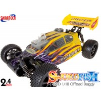 Smartech (ST-103411-Y) Swordfish 4WD 1/10 Scale Offoad Nitro Buggy RTR (Yellow) - 2.4GHz