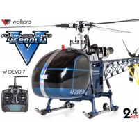 WALKERA 4F200LM Flybarless Multiblades 3-Axis-Gyro System 6CH Aluminum Edition Helicopter with DEVO 7 Transmitter RTF (Blue) - 2.4GHz