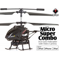 WLTOYS (WL-S215-B) Micro Super Combo 3CH iPhone/ iPad/ iPod controlled Helicopter with Video Camera Infered ARTF (Black)