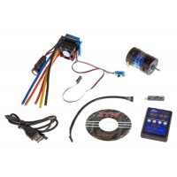 ZTW (ZTWSS120A+3.5T) 120A Sensorless Brushless ESC Combo with 3.5T Sensored Motor, Setup Card and USB Interface