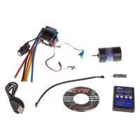 ZTW (ZTWSS120A+5.5T) 120A Sensored / Sensorless Brushless ESC Combo with 5.5T Sensored Motor, Setup Card and USB Interface